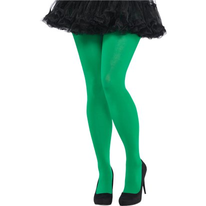 Green Tights - Women's Tights Plus Size front