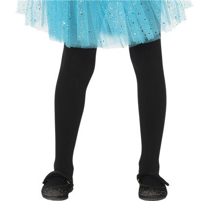 Kid's Black Tights - Girl's Tights 5-9yrs front