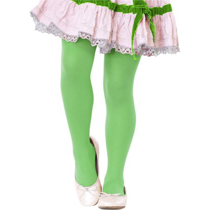 Kid's Green Tights - Girl's Tights 7-10yrs front