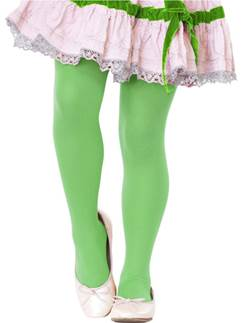 Childrens Green Tights - Age 7-10