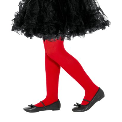 Kid's Red Tights - Girl's Tights 7-10yrs front
