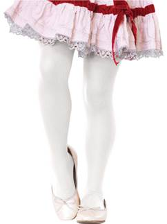 White Tights - Child 7-10yrs