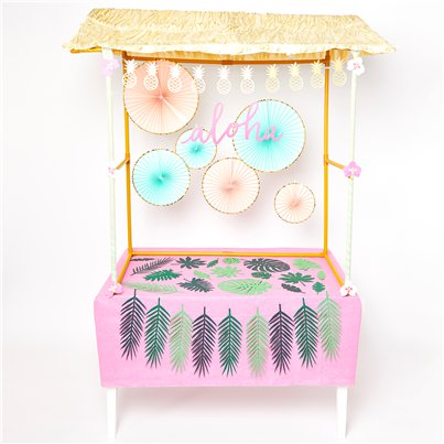 Deluxe Pink Tropical Tiki Bar Kit
