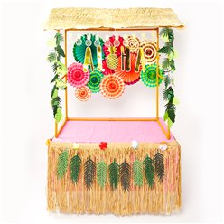 Super Deluxe Pink Aloha Tiki Bar Kit