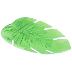 Plastic Jungle Leaf Platter - 35cm