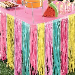 Summer Pastel Grass Table Skirt