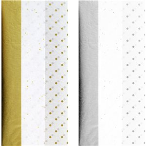 Gold or Silver Tissue Paper Assortment