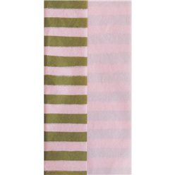 Gold & Pink Stripe Tissue Paper