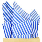 Royal Blue Stripe Tissue Paper - 50cm