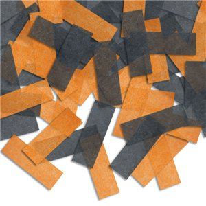 Piñata Confetti - Orange and Black