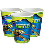 Ninja Turtles Cups - 255ml Paper Party Cups