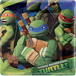 Ninja Turtles Plates - 17cm Paper Party Plates
