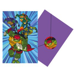 Rise of Teenage Mutant Ninja Turtles Party Invitations