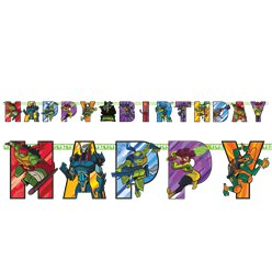 Rise of Teenage Mutant Ninja Turtles Birthday Banner - 2.1m