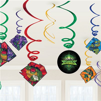 Rise of Teenage Mutant Ninja Turtles Hanging Swirl Decorations