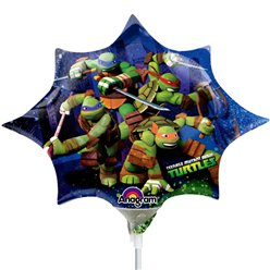 Ninja Turtles Mini Airfilled Balloon - 9'' Foil