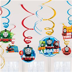 Thomas the Tank Hanging Decorations - Hanging Swirls