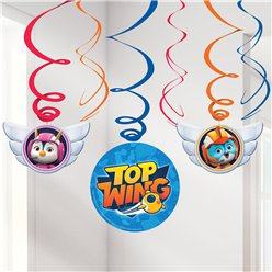 Top Wing Hanging Swirls