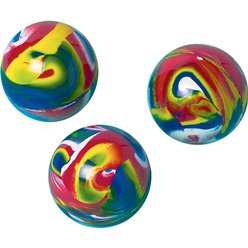 Large Psychedelic Bouncy Balls