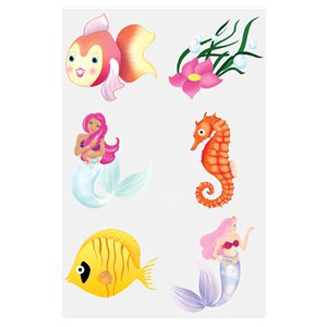 Mermaid Tattoo Sheet