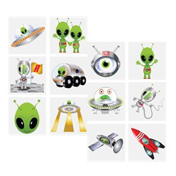 Alien Tattoo Sheet