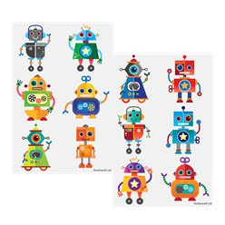 Robots Tattoo Sheet