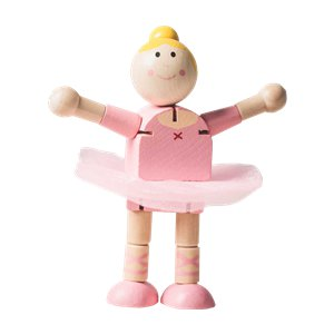 Wooden Flexi Ballerina