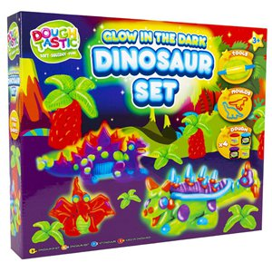 Glow in the Dark Dino Dough Set