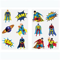 Super Hero Tattoo Sheet