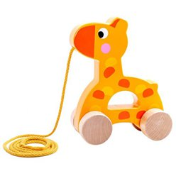 Wooden Pull Along Giraffe