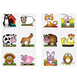 Farm Temporary Tattoos Sheet