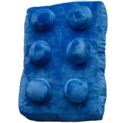 Blue Brick Cushion