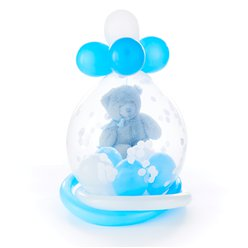 Baby Blue Bear Stuffed Balloon - Delivered Inflated