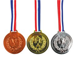 Gold, Silver & Bronze Medals - Plastic