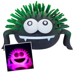 Flashing Squeezy Spider Toy - 10cm