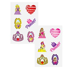 Princess Tattoo Sheet
