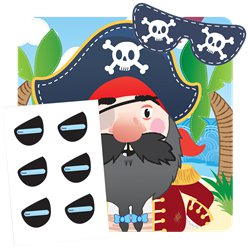 Pirates Pin the Eye Patch Game