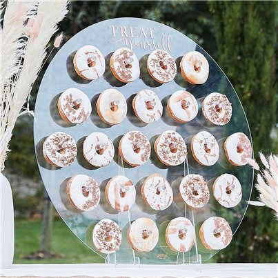 A Touch Of Pampas Acrylic Donut Wall Stand - 65cm
