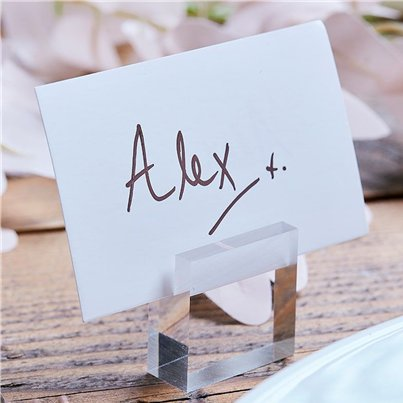 A Touch Of Pampas Acrylic Block Place Card Holders