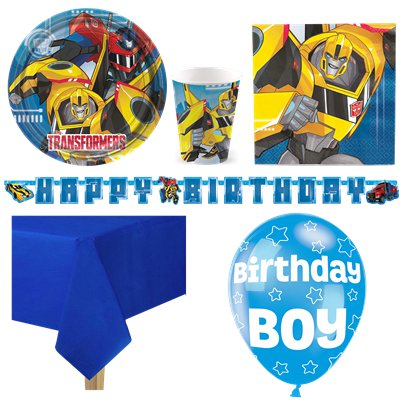 Transformers Party Pack - Deluxe Pack for 8