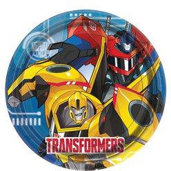 Transformers Paper Party Plates - 23cm