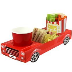 Red Sports Car Combi Food Tray - 29.5cm long