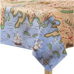 Treasure Map Plastic Tablecover - 1.2 x 1.8m
