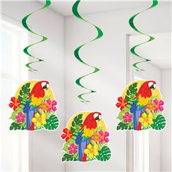 Tropical Island Luau Hanging Swirls