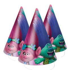 Trolls Cone Party Hats
