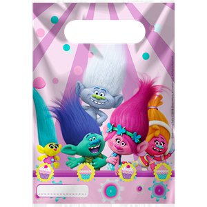 Trolls Party Bags - Plastic Loot Bags