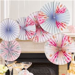 Truly Romantic Vintage Pinwheel Fan Decorations