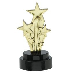 Mini Stars Award Trophies - Plastic 10cm