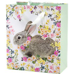 Easter gift bags party delights medium truly bunny gift bag 23cm negle Images