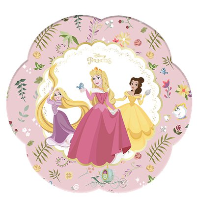 Disney True Princess Flower Shaped Paper Plates - 26cm